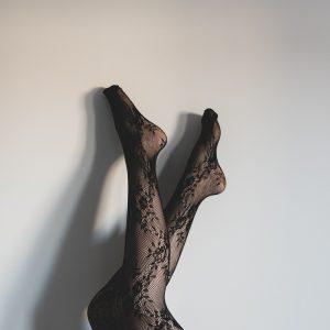 Gemusterte Strumpfhosen formen Ihre Beine